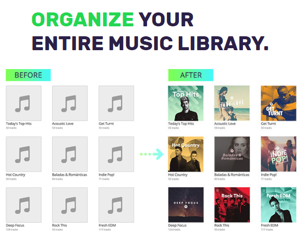 tunesgo features music library
