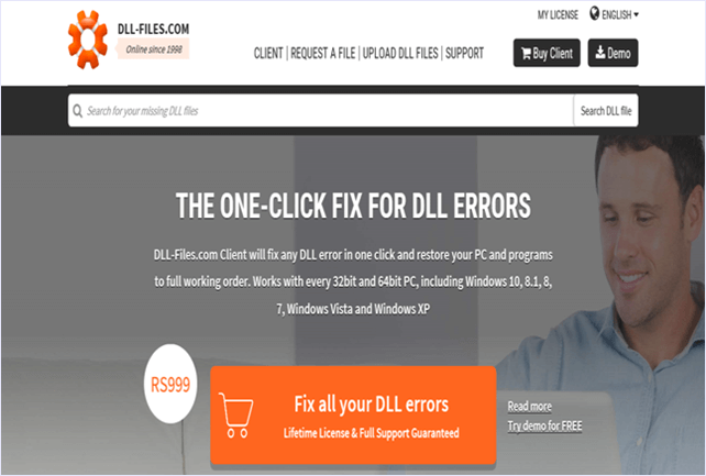 dll files website interface
