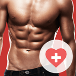 Fitness bodybuilding app icon
