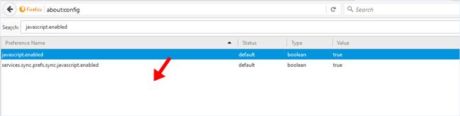 Mozilla Disable Javascript