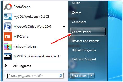 Control Panel Option