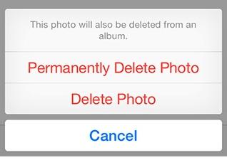 delete forever ios