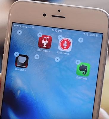 iphone home screen blank space
