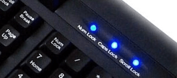 keyboard led notepad