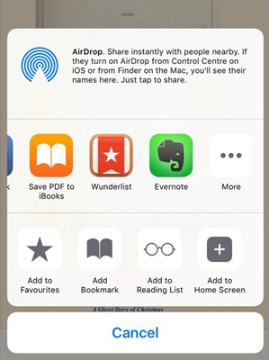 save pdf in ibooks