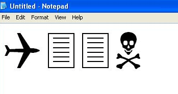 trade center attack notepad