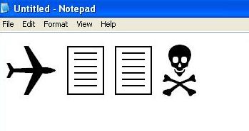 trade center attack notepad