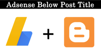 How To Add Adsense Below Post Title On Blogger