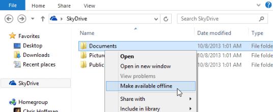 keep files offline