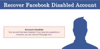 How To Recover Disabled Facebook Account Permanently