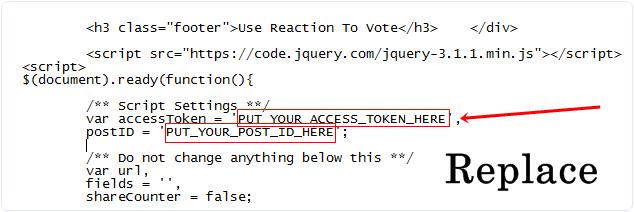 replace token app id script