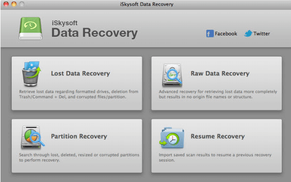 iskysoft data recovery modes