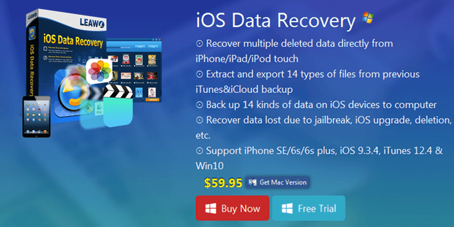 Leawo iOS Data Recovery Software For iPhone, iPAD & iPOD