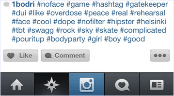 use instagram hashtags