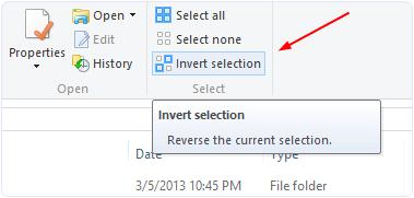 windows invert selection