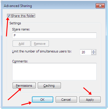 Advanced sharing window