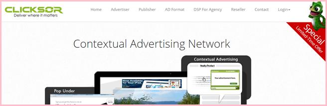 clicksor popunder ad network