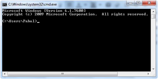 cmd command prompt interface