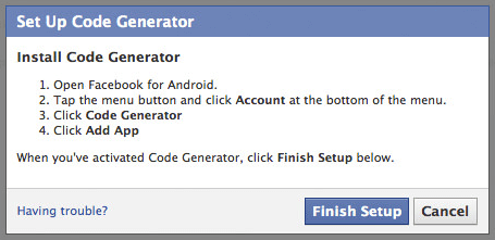 code generator facebook android