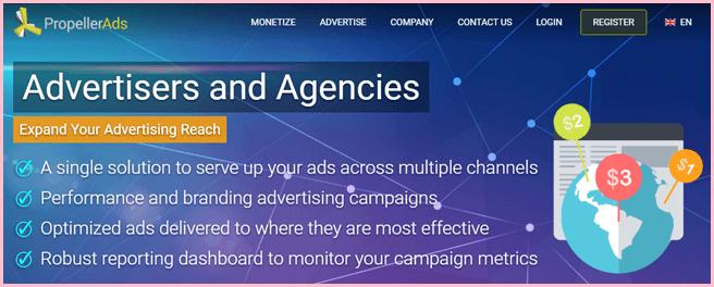propeller ads popunder network