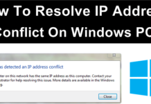 How To Resolve IP Address Conflict On Windows PC