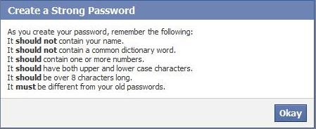 strong facebook password