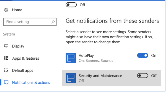 windows security notifications