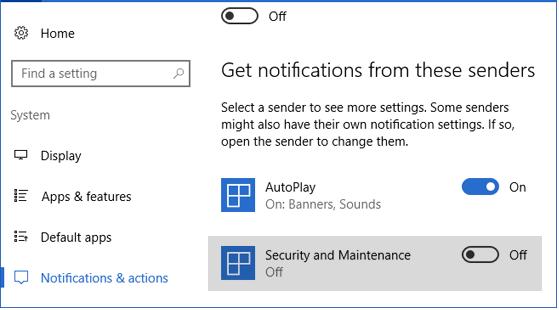 windows security notifications
