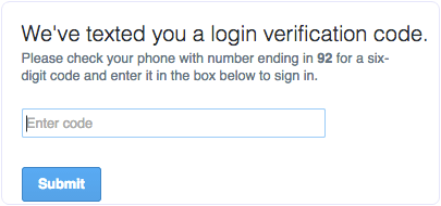Step 2 verification enter code