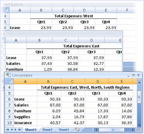 consolidate data excel reduce size