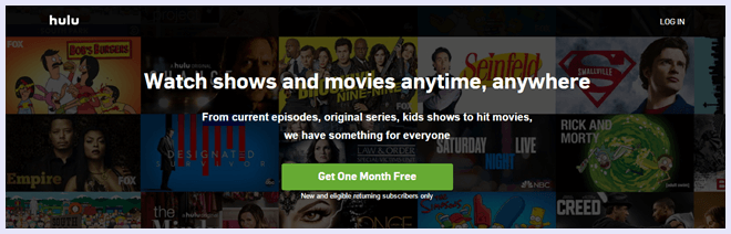 hulu plus video streaming site