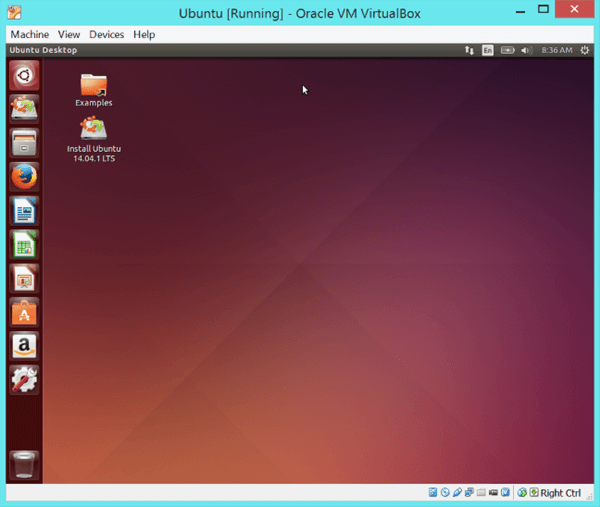 lunix running on windows virtual machine