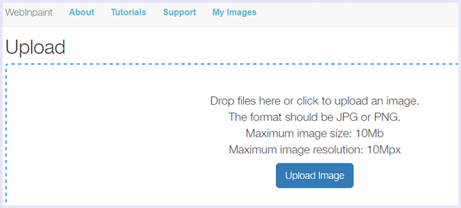 upload image webinpaint watermark remove