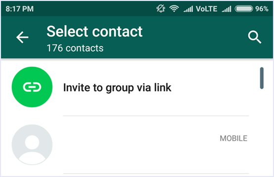 whatsapp add group participants
