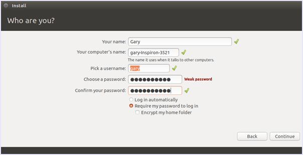 complete ubuntu account setup