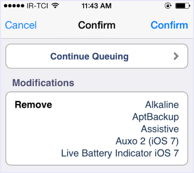 confirm delete all cydia tweaks