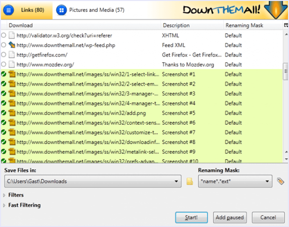 Down itall download manager