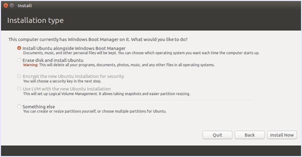 Instal ubuntu di samping jendela