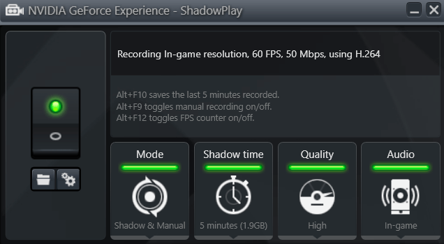 nvidia shadow play