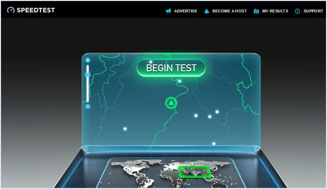 perform speedtest wifi