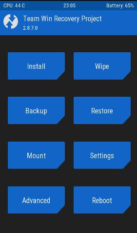twrp install rom