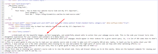 view html code to copy text