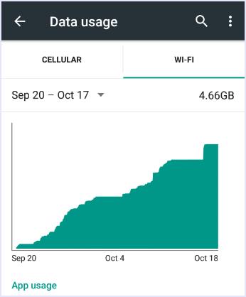 wifi data usage checking