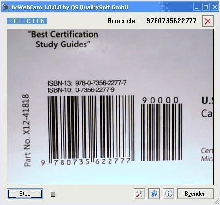 bcwebcam barcode scanner