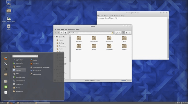 cinnamon linux desktop environment