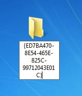 enable god mode rename folder