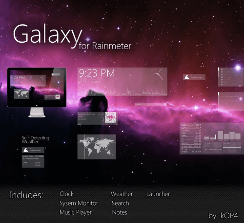 galaxy suit rain meter