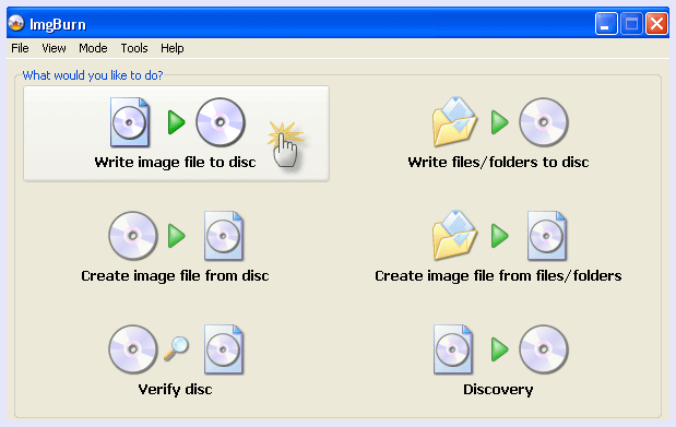 img burn dvd burning tool