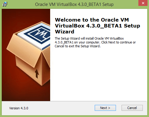 install oracle vm virtualbox