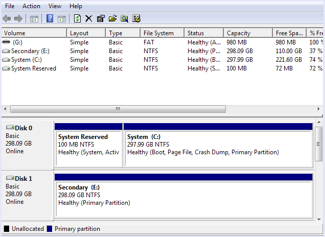 main window disk manager tool